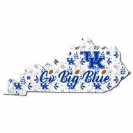 "Kentucky Wildcats 12"" Floral State Sign"