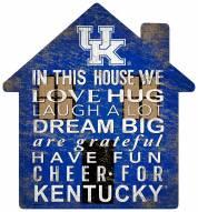 """Kentucky Wildcats 12"""" House Sign"""
