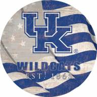 "Kentucky Wildcats 12"" Team Color Flag Circle Sign"