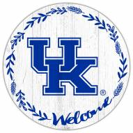 "Kentucky Wildcats 12"" Welcome Circle Sign"