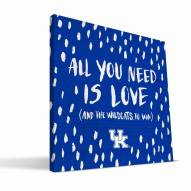 "Kentucky Wildcats 12"" x 12"" All You Need Canvas Print"