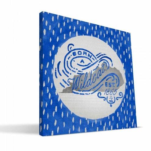 """Kentucky Wildcats 12"""" x 12"""" Born a Fan Canvas Print"""