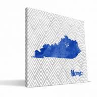 """Kentucky Wildcats 12"""" x 12"""" Home Canvas Print"""