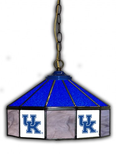 "Kentucky Wildcats 14"" Glass Pub Lamp"