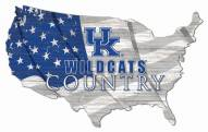 "Kentucky Wildcats 15"" USA Flag Cutout Sign"