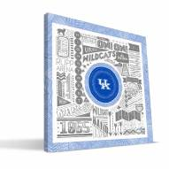 "Kentucky Wildcats 16"" x 16"" Pictograph Canvas Print"