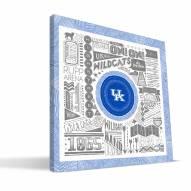 "Kentucky Wildcats 16"" x 16"" Pictograph Canvas Print"