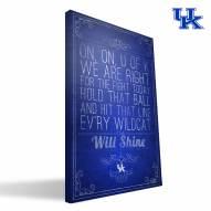 """Kentucky Wildcats 16"""" x 24"""" Song Canvas Print"""