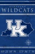 "Kentucky Wildcats 17"" x 26"" Coordinates Sign"