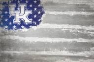 """Kentucky Wildcats 17"""" x 26"""" Flag Sign"""