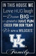 "Kentucky Wildcats 17"" x 26"" In This House Sign"