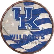"Kentucky Wildcats 24"" Flag Barrel Top"
