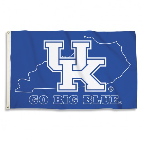 Kentucky Wildcats 3' x 5' State Outline Flag