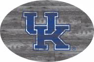 "Kentucky Wildcats 46"" Distressed Wood Oval Sign"