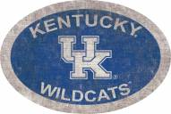 "Kentucky Wildcats 46"" Team Color Oval Sign"
