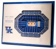 Kentucky Wildcats 5-Layer StadiumViews 3D Wall Art