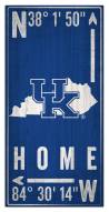 "Kentucky Wildcats 6"" x 12"" Coordinates Sign"