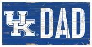 "Kentucky Wildcats 6"" x 12"" Dad Sign"