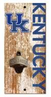 """Kentucky Wildcats 6"""" x 12"""" Distressed Bottle Opener"""