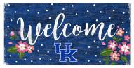 "Kentucky Wildcats 6"" x 12"" Floral Welcome Sign"