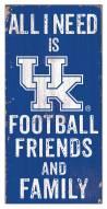 """Kentucky Wildcats 6"""" x 12"""" Friends & Family Sign"""