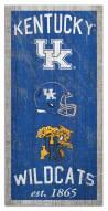 """Kentucky Wildcats 6"""" x 12"""" Heritage Sign"""