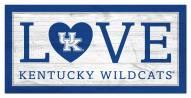 """Kentucky Wildcats 6"""" x 12"""" Love Sign"""
