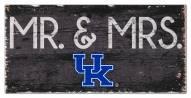 """Kentucky Wildcats 6"""" x 12"""" Mr. & Mrs. Sign"""