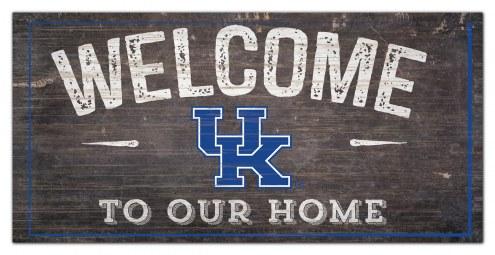 "Kentucky Wildcats 6"" x 12"" Welcome Sign"