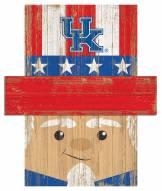 """Kentucky Wildcats 6"""" x 5"""" Patriotic Head"""