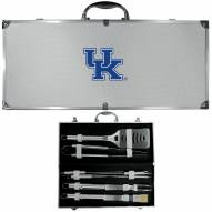 Kentucky Wildcats 8 Piece Stainless Steel BBQ Set w/Metal Case