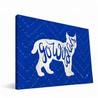 """Kentucky Wildcats 8"""" x 12"""" Mascot Canvas Print"""