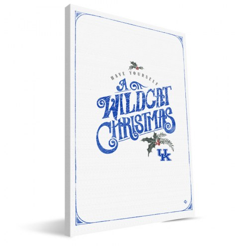 """Kentucky Wildcats 8"""" x 12"""" Merry Little Christmas Canvas Print"""