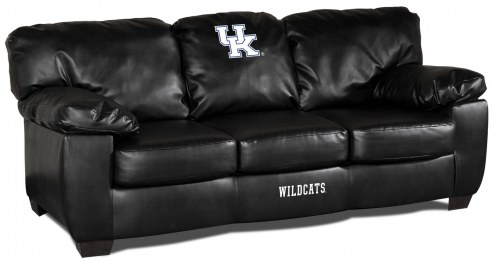 Kentucky Wildcats Black Leather Classic Sofa