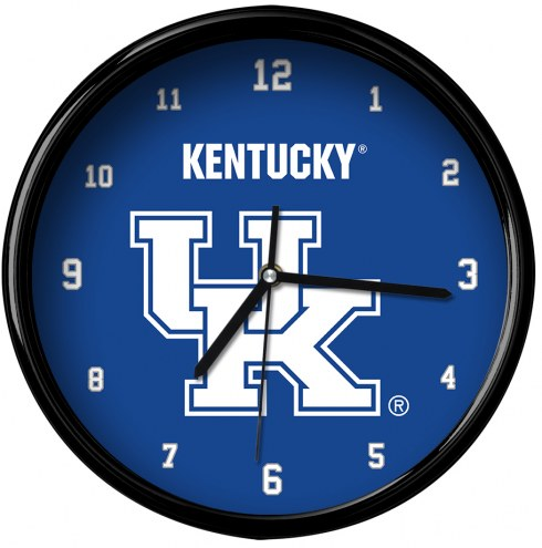 Kentucky Wildcats Black Rim Clock