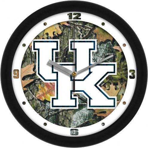 Kentucky Wildcats Camo Wall Clock