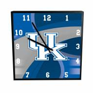 Kentucky Wildcats Carbon Fiber Square Clock