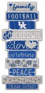 Kentucky Wildcats Celebrations Stack Sign