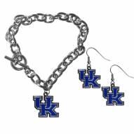Kentucky Wildcats Chain Bracelet & Dangle Earring Set