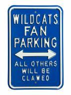 Kentucky Wildcats Clawed Parking Sign
