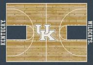 Kentucky Wildcats College Home Court Area Rug