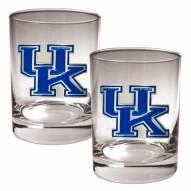 Kentucky Wildcats College 2-Piece 14 Oz. Rocks Glass Set