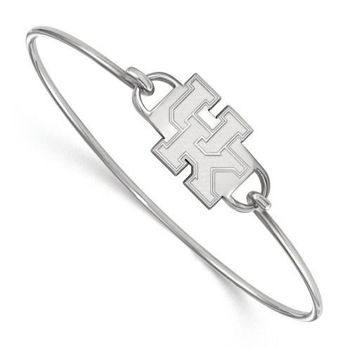 Kentucky Wildcats Sterling Silver Wire Bangle Bracelet