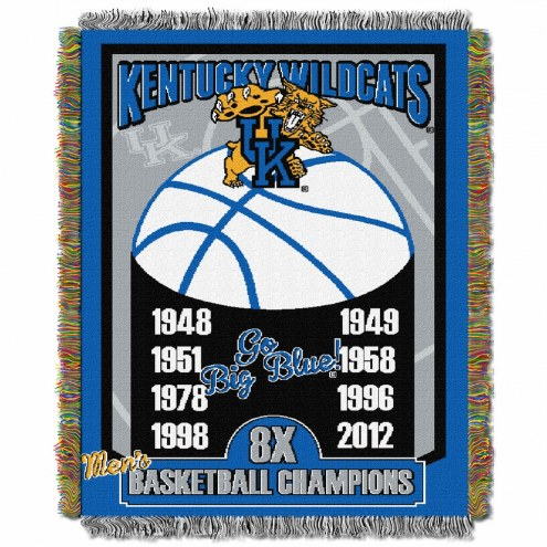 Kentucky Wildcats Commemorative Champs Throw Blanket