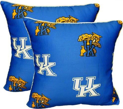 Kentucky Wildcats Decorative Pillow Set