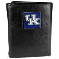 Kentucky Wildcats Deluxe Leather Tri-fold Wallet in Gift Box