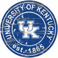 Kentucky Wildcats Distressed Round Sign