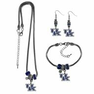 Kentucky Wildcats Euro Bead Jewelry 3 Piece Set