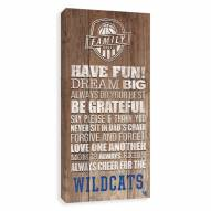 Kentucky Wildcats Family Rules Icon Wood Printed Canvas