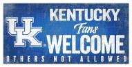 Kentucky Wildcats Fans Welcome Sign